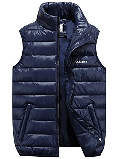 cheap Men's Downs & Parkas-Men's Going out Street chic Padded - Solid