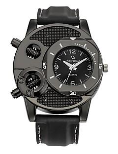 Herrn Kinder Sportuhr Modeuhr Einzigartige kreative Uhr Armbanduhren für den Alltag Chinesisch Quartz Wasserdicht Leder Echtes Leder Band