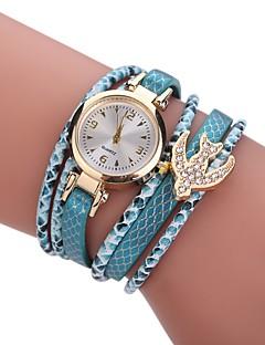 billige Armbåndsure-Dame Quartz Simuleret Diamant Ur Armbåndsur Kinesisk Imiteret Diamant Legering Stof Bånd Vedhæng Afslappet Bohemisk Elegant Mode Sort