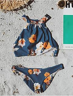 Dame Bikini Blomstret stuper halsen Snøring Grime Trykt mønster