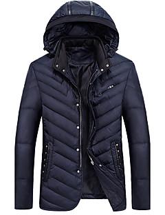 コート レギュラー ダウン メンズ,お出かけ カジュアル/普段着 ソリッド コットン ポリプロピレン-シンプル 長袖
