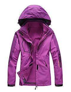 女性用 3-in-1 ジャケット アウトドア 速乾性 防風 防雨 伸縮性 トップス 防水機能 シングルファスナー ランニング 登山 旅行 ウィンタースポーツ-LEIBINDI