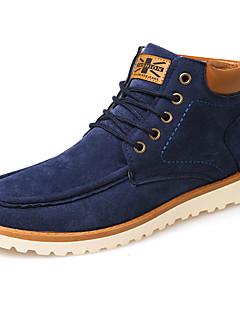 Bărbați Pantofi PU Toamnă Iarnă Confortabili Cizme la Modă Cizme Dantelă Pentru Casual Negru Galben Albastru