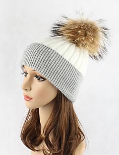 billige Trendy hatter-Dame Hatt Solhatt Skilue - Lapper, Fargeblokk Ull