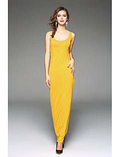 Χαμηλού Κόστους Μακριά Φορέματα-Γυναικεία Φαρδιά Φόρεμα - Μονόχρωμο Μακρύ