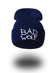 billige Trendy hatter-Unisex Hatt Mønster Hodeplagg Fritid Chic & Moderne Fritid/hverdag Hold Varm Strikketøy Beanie Hatt Solhatt Skilue - Ren Farge, Ensfarget