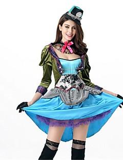 billige Halloweenkostymer-Den gale hattemaker Cosplay Kostumer Voksne Halloween Festival / høytid Halloween-kostymer Mote Vintage