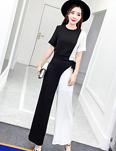 Women's Daily Simple Summer T-shirt Pant Suits