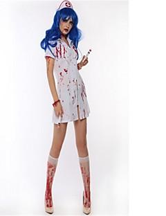 billige Halloweenkostymer-Bloody Mary Cosplay Kostumer Halloween De dødes dag Festival / høytid Halloween-kostymer Hvit Mote