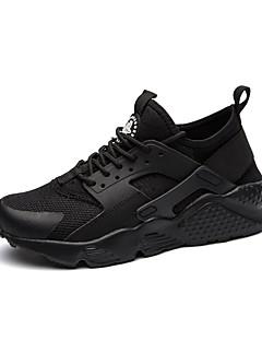 Bărbați Pantofi Tul Piele de Porc Toamnă Iarnă Confortabili Tălpi cu Lumini Adidași Dantelă Pentru De Atletism Casual Alb Negru Negru/Alb