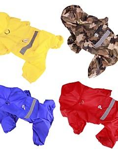 levne Oblečení pro psy-Pes Pláštěnka Oblečení pro psy Jednobarevné Červená / Modrá / Kamuflážní barva Akrylová vlákna Kostým Pro domácí mazlíčky Léto Pánské /