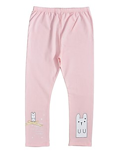 Girls' Print Pants-Cotton Spring Fall