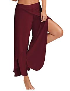 Χαμηλού Κόστους Παντελόνια-Γυναικεία Ενεργό Ψηλοκάβαλο Φαρδιά / Πλατύ Πόδι / Αθλητικές Φόρμες Παντελόνι Μονόχρωμο / Με χώρισμα