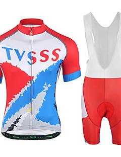 Sykkeljersey med shorts Unisex Kortermet Sykkel Genser Jersey Fôrede shorts Klessett Fort Tørring Anvendelig 3D Pute Lettvekt LYCRA®