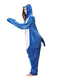Kigurumi Pyjamas Hai Kostume Blå Kigurumi Trikot / Heldraktskostymer Cosplay Festival / høytid Pysjamas med dyremotiv Halloween Dyr Til