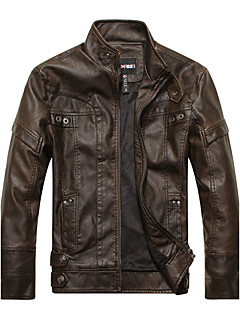 Men's Daily Club Vintage Street chic Punk & Gothic Winter Fall Leather Jacket