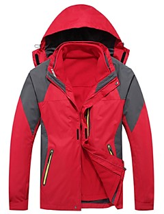 Men's Hiking Jacket Outdoor Winter Thermal / Warm Windproof Rain-Proof Wearable Breathability Thick 3-in-1 Jacket Winter Jacket Top Full