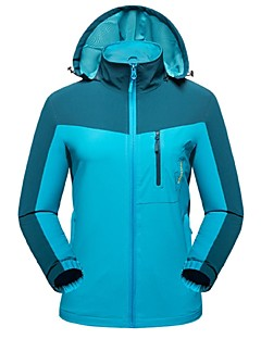 Women's Hiking Jacket Outdoor Winter Windproof Wearable Breathability Stretchy Winter Jacket Top Full Length Visible Zipper Camping /