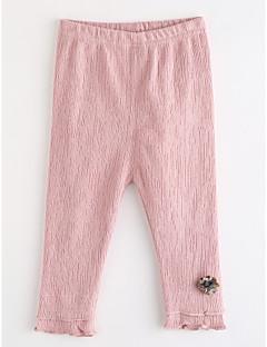 billige Bukser og leggings til piger-Pige Bukser Prikker, Bomuld Efterår Lyserød