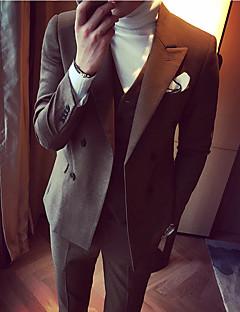 billige Herremote og klær-Hakkjakkeslag drakter-Ensfarget Enkel Fritid Herre