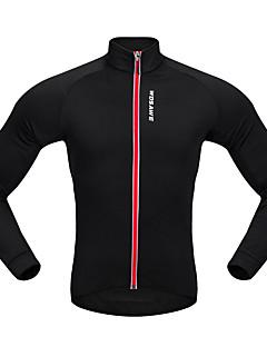 billige Sykkeljerseys-WOSAWE Langermet Sykkeljersey - Svart Svart/Rød Sykkel Jersey