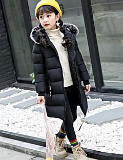 olcso -Egyszínű Tél Lány Toll és pamuttal bélelt Fekete Arcpír rózsaszín