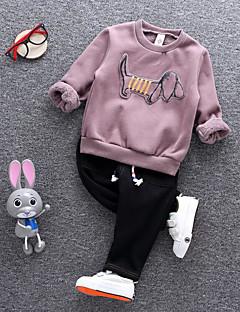 Mädchen Sets Bestickt Baumwolle Herbst Kleidungs Set