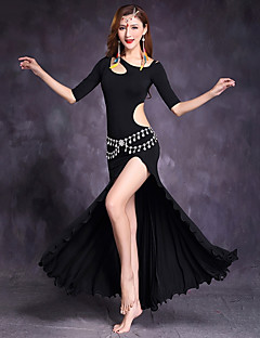 cheap Belly Dance Wear-Belly Dance Dresses Women's Performance Modal Half Sleeves Dress