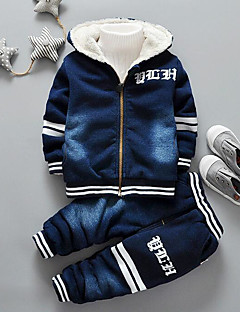 Boys' Solid Clothing Set,Cotton Winter Fall Navy Blue