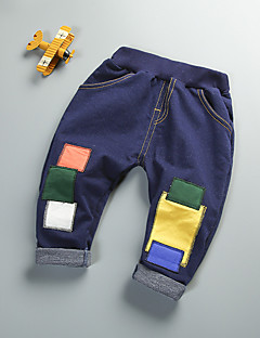 Boys' Geometric Jeans-Cotton Fall