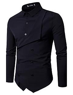 billige Herremote og klær-Tynn Skjorte Herre - Ensfarget Art Deco / Retro Fest