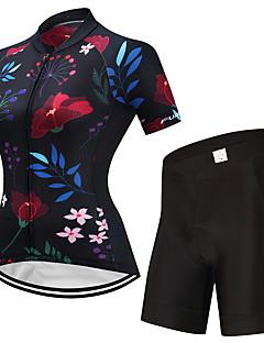 billiga Cykling-FUALRNY® Dam Kortärmad Cykeltröja med shorts - Svart Cykel Klädesset, Snabb tork Lycra