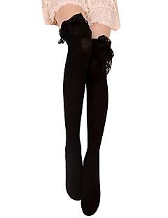 billiga Lolitaaccessoarer-Strumpor / Strumpbyxor Gotisk Lolita Lolita Dam Svart lolita tillbehör Spets Strumpbyxor Cotton
