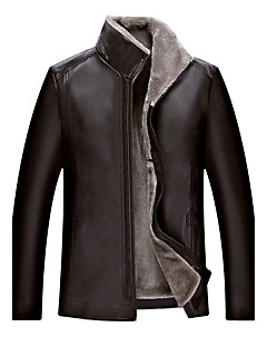 Men's Going out Casual/Daily Casual Sexy Chinoiserie Winter Leather Jacket