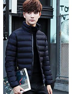 Herren Mantel Einfach Ausgehen Lässig/Alltäglich Solide-Polyester Polypropylen Langarm