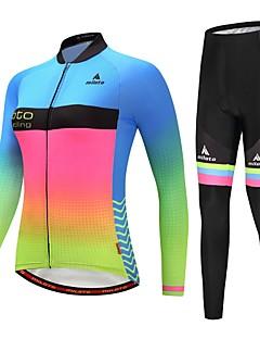billiga Cykling-Miloto Dam Långärmad Cykeltröja och tights - Lysande Cykel Klädesset Gradient / Elastisk