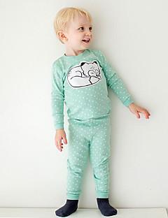 Jungen Schlafanzüge Druck Tupfen Baumwolle-Herbst-Langärmelige
