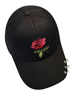 billige Trendy hatter-Dame Mønster Baseballcaps - Broderi, Ensfarget Polyester