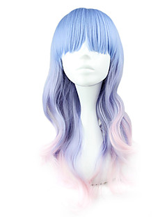 Lolita Wigs Sweet Lolita Blue Color Gradient Lolita Wig 55 CM Cosplay Wigs Patchwork Wig For