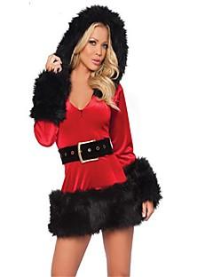 Nisse drakter Stuepike Kostumer Mrs.Claus Cosplay Kostumer Julefest Tilbehør Kvinnelig Jul Karneval Festival / høytid Halloween-kostymer