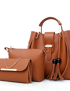 cheap -Women's Bags PU(Polyurethane) Bag Set 3 Pcs Purse Set Zipper Blushing Pink / Gray / Brown