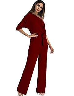 billige Jumpsuits og sparkebukser til damer-Dame Kjeledresser - Ensfarget Enskuldret