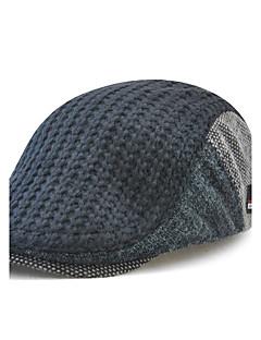 כובע כומתה (בארט) כובע עם שוליים רחבים כובע בייסבול טלאים צמר כותנה אקריליק כל העונות אביזרים Keep Warm חסין רוח סריגים גברים טלאים