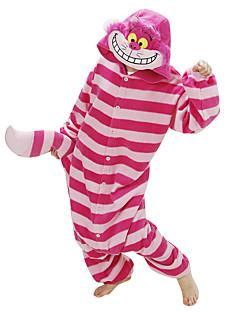 Kigurumi Pyjamas Kat Chesire Cat Kostume Rød Polar Fleece Kigurumi Trikot / Heldraktskostymer Cosplay Festival / høytid Pysjamas med