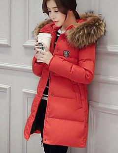 コート ダウン レディース,お出かけ カジュアル/普段着 ソリッド ポリエステル ホワイトダックダウン ポリプロピレン-キュート ストリートファッション 長袖