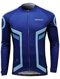 billige Sykkelklær-SPAKCT Herre Langermet Sykkeljersey - Blå og svart Sykkel Jersey, Ultraviolet Motstandsdyktig