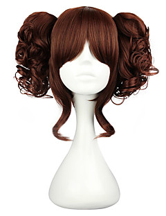 cheap Lolita Wigs-Lolita Wigs Classic Lolita Dress Black Brown Lolita Lolita Wig 35 CM Cosplay Wigs Solid Wig For