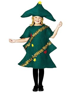 Christmas Trees Outfits Kid Christmas Festival / Holiday Halloween Costumes Green Simple Holiday