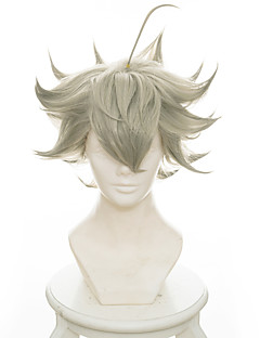 billige Anime cosplay-Cosplay Parykker Svart kløver Asta Anime Cosplay-parykker 35 CM Varmeresistent Fiber Herre