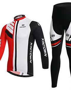 billige Sett med sykkeltrøyer og shorts/bukser-Herre Langermet Sykkeljersey med tights Sykkel Klessett, Fort Tørring